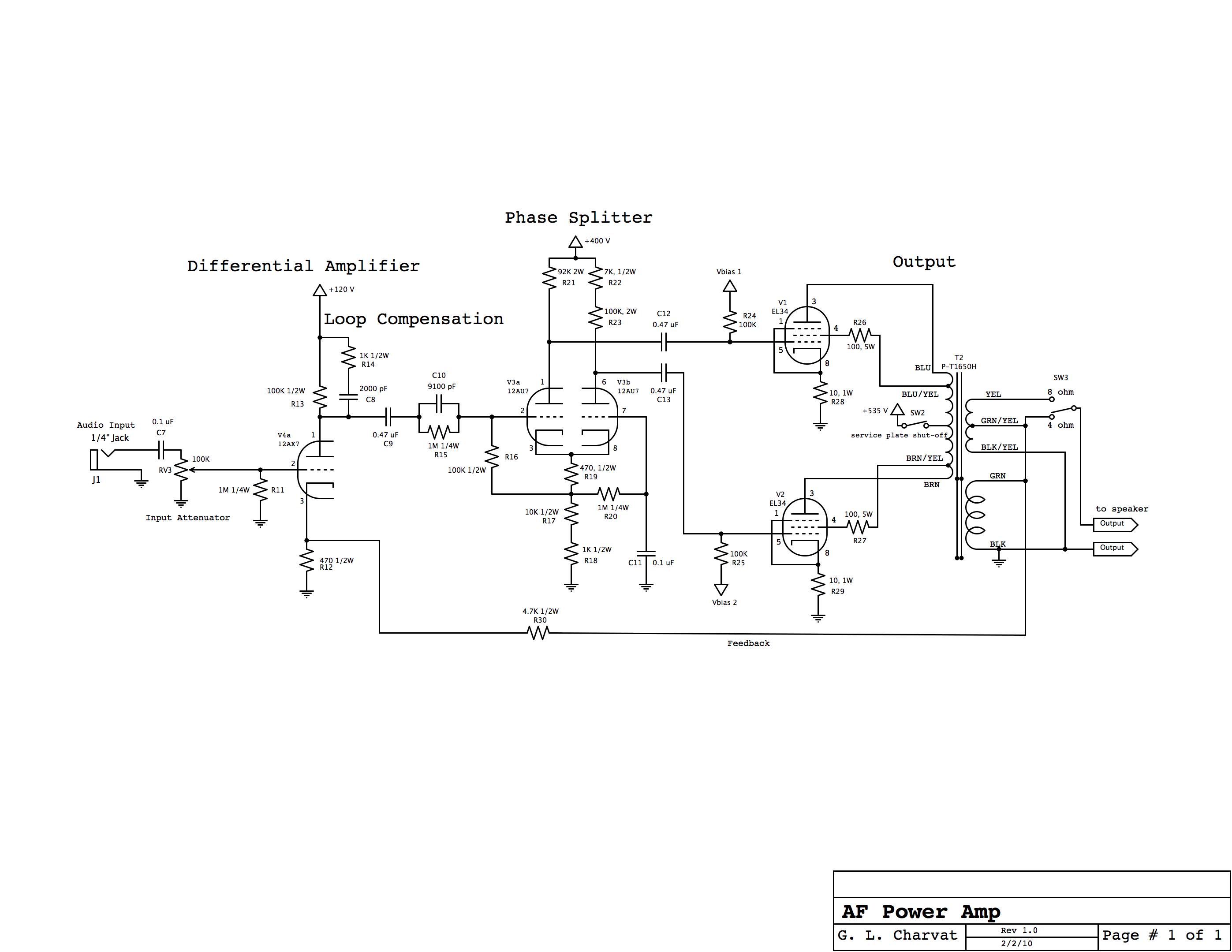 Valve Audio Amplifier Schematic Wire Center Integrated Circuit Amplifiercircuitsaudio Amplifiercircuit Mono Block Tube Rh Glcharvat Com Power Amplifiers Diagram Class D